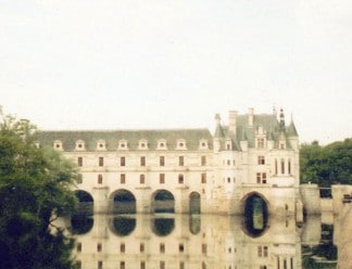 Chateau of Chenonceau on the Cher River in France's Loire Valley