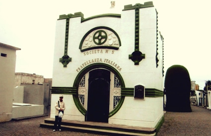 Crypt in Punta Arenas, southern Chile.