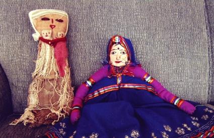 Dolls from Quito, Ecuador and Jaipur, India