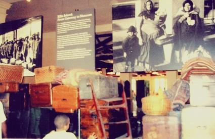 Ellis Island immigrant exhibit