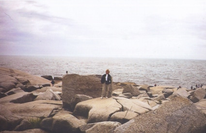Marianne at Peggy's Cove in St. Margaret's Bay