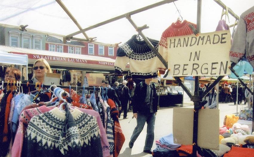 Handmade crafts in a market