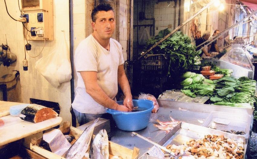 Man at the Mercato di Capo in Palermo