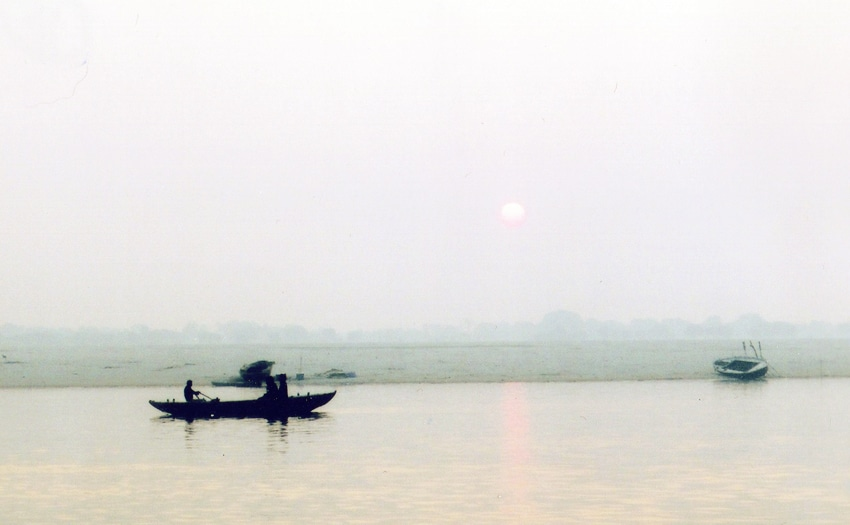Sunrise on the Ganges River in Varanasi, India