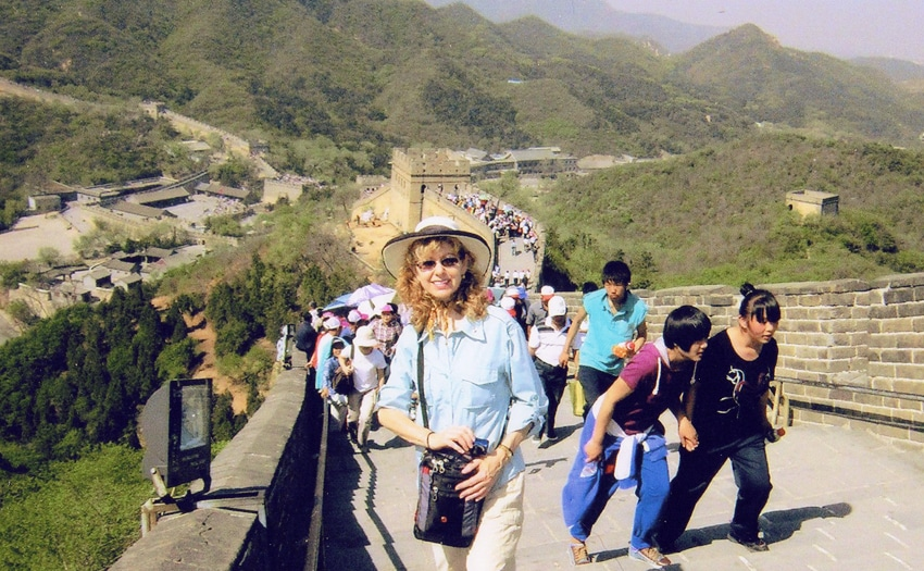 Marianne on the Great Wall of China