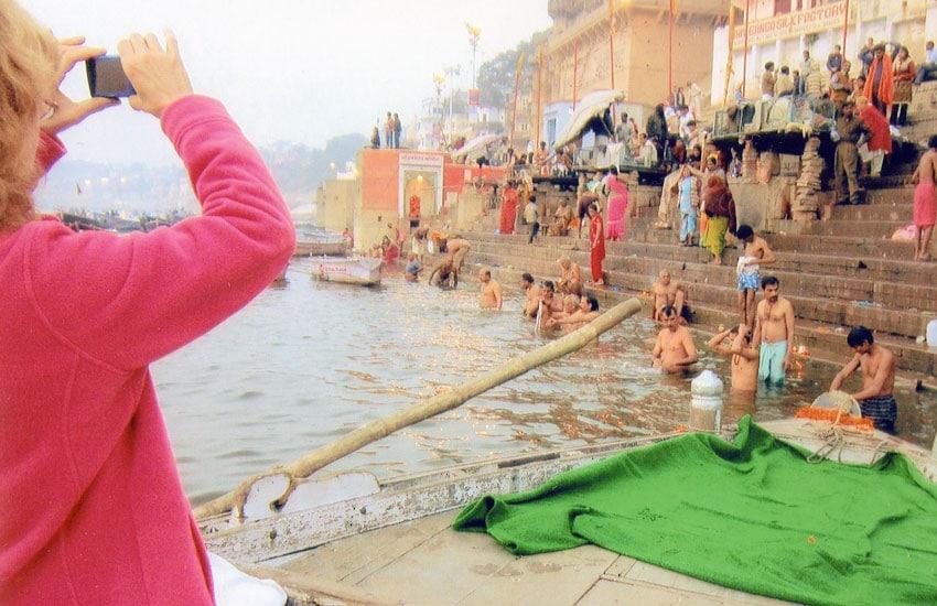 The Ganges River, Varanasi, India.
