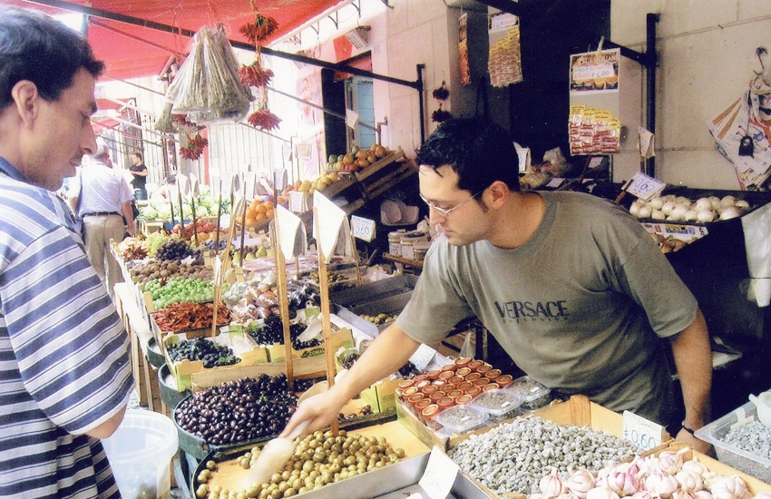 Mercato di Capo in Palermo, Sicily