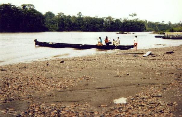 Amazon River in Ecuador, South America