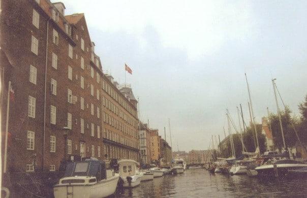 Christianshaven District in Copenhagen Denmark
