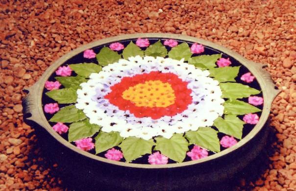 Floral design in India