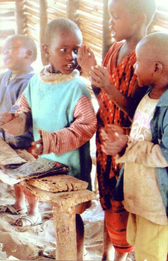 Kenyan children singing