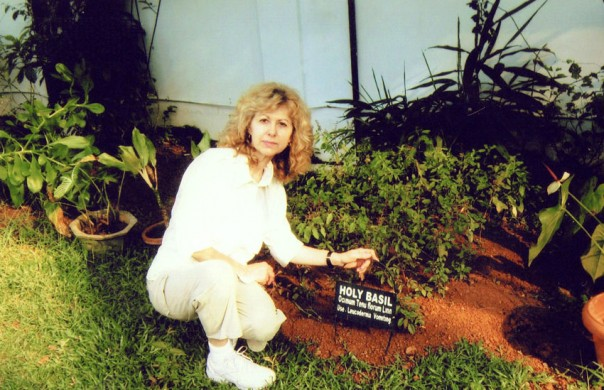 Marianne with Holy Basil