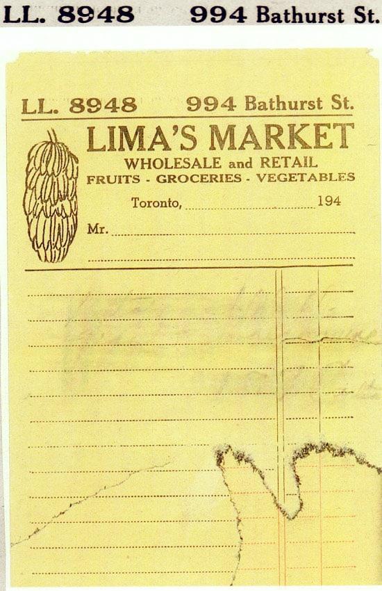 Order form for grandparents market 1920