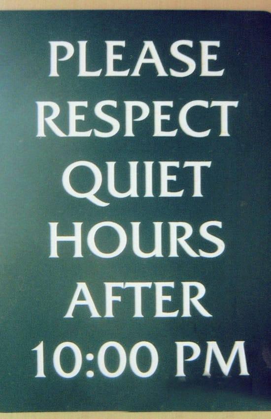 Quiet hours posting