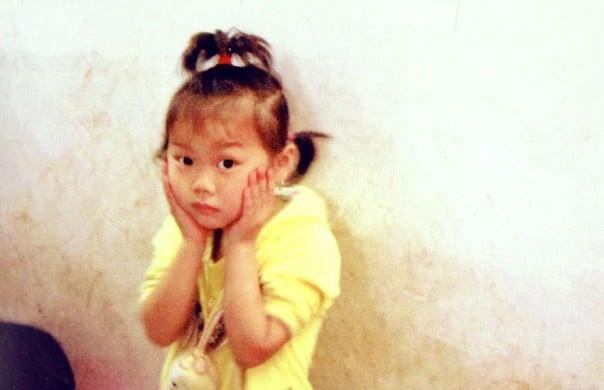 Young girl in kindergarten. Fengdu, China