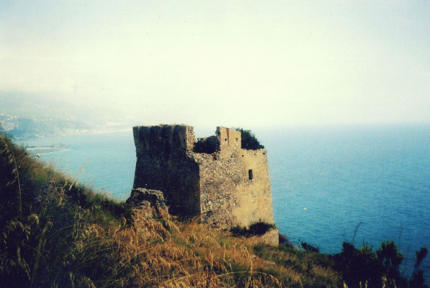 Abandoned fort on Tyrrhian sea