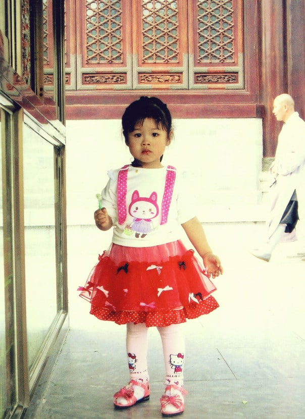 Adorable girl in Shaanxi Province China