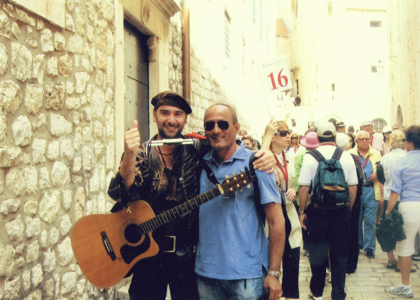 Musician and friend in Dubrovnik Croatia