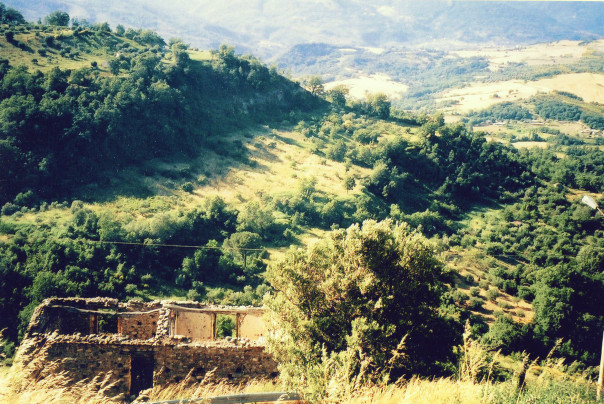 Ruins and rolling hills in Cetraro