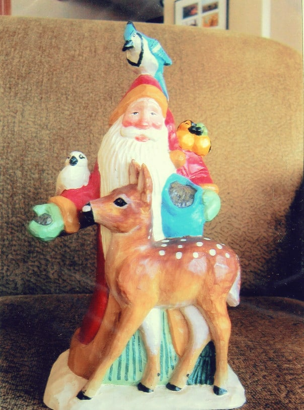 Santa Ornament with several animals