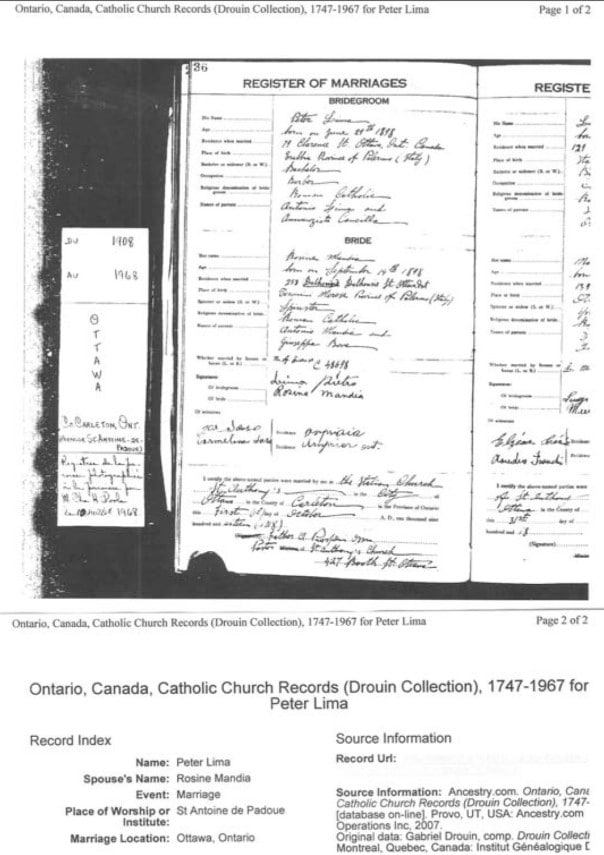 1918 Marriage Registration