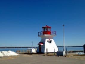 Lighthouse, Richard's Landing, St. Joseph's Island; 30 miles east of Sault Ste. Marie, Ontario.