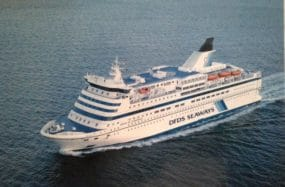 Ferry carrying 1,700 passengers from Copenhagen, Denmark to Oslo, Norway.