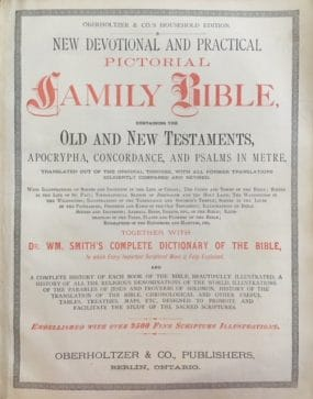 New Devotional and Practical Pictorial Family Bible.1879 Edition.