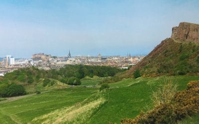 Salisbury Crags, Edinburgh, Scotland.